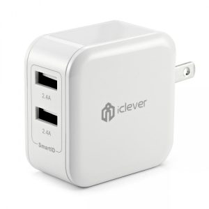 iClever 24W Dual USB Wall Charger