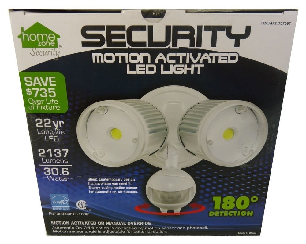 Home Zone LED Outdoor Security FloodlightUPDATED  Top 10 Best Motion Sensor Lights 2016   2017. Exterior Motion Detector Led Lights. Home Design Ideas