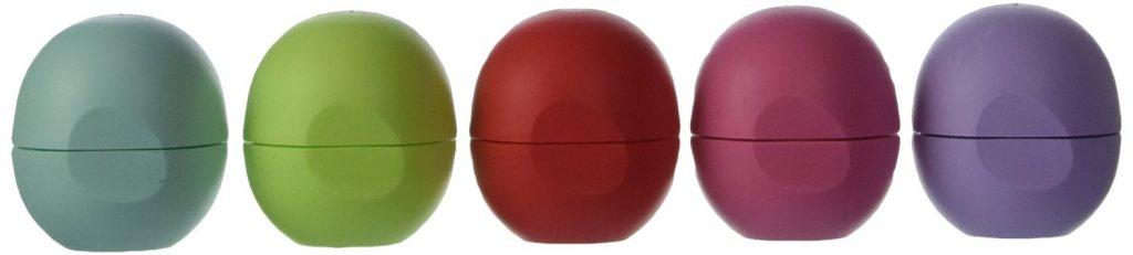 Eos Organic Smooth Sphere Lip Balm Summer Fruit, Sweet Mint, Strawberry Sorbet, Passion Fruit, Honeydew