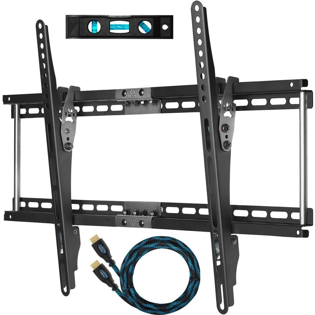 Single stud tv wall mount - Top On Our List Cheetah Mounts Aptmm2b Is A Durable Low Profile Television Mount That Supports Up To 165 Pounds It Fits 16 24 Inch Studs