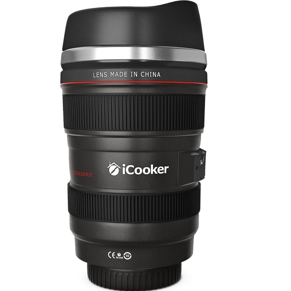 iCooker FFX-260 Camera Lens Travel Coffee Mug