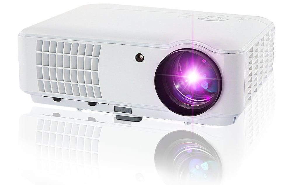 Taotaole 2600 Lumens Hd LCD LED Video Projectors Multimedia Home Projector with HDMI/USB/AV/VGA