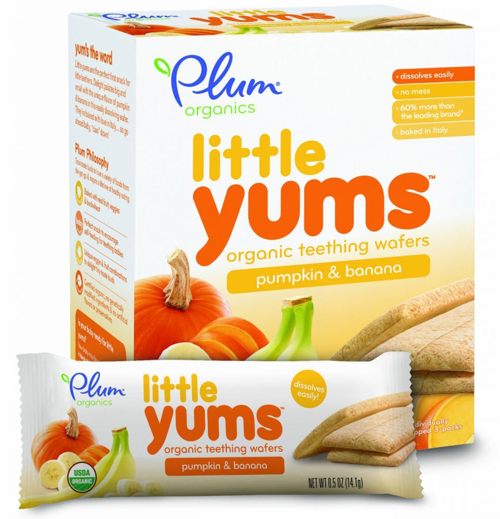 Plum Organics Little Yums Teething Wafers, Pumpkin Banana
