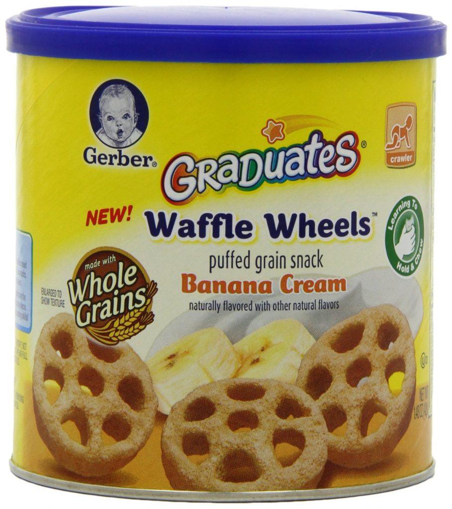 Gerber Graduates Waffle Wheels, Banana Cream,