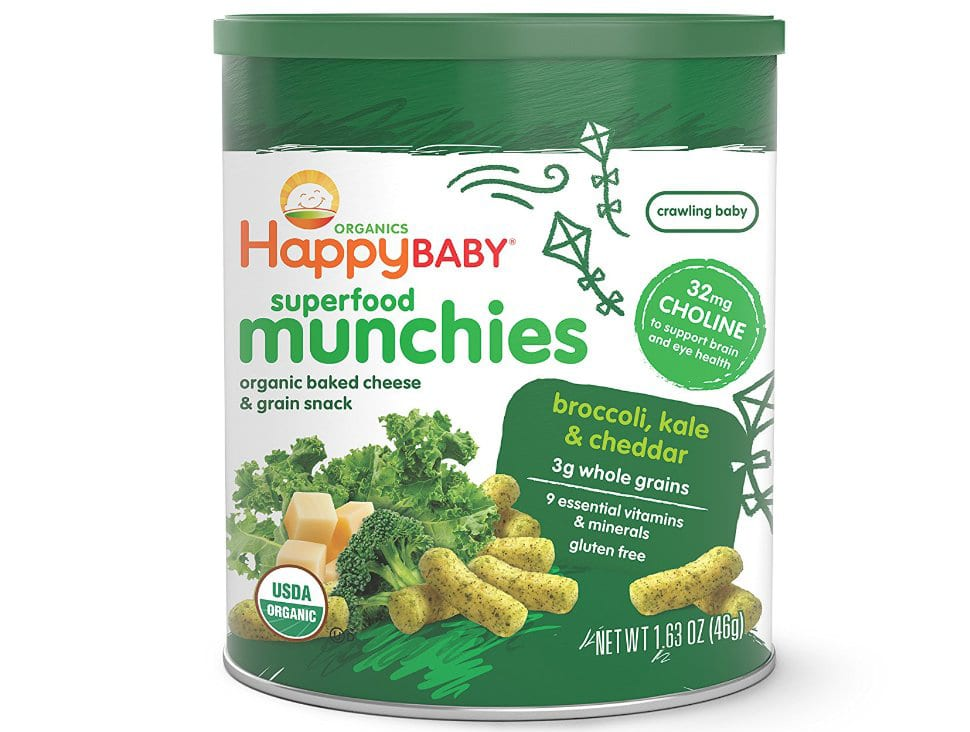 Happy Baby Organic Superfood Munchies Baked Cheese & Grain Snacks