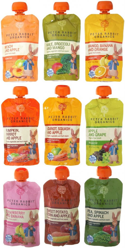 Peter Rabbit Organics 100% Pure Baby Food 10 Flavor Variety