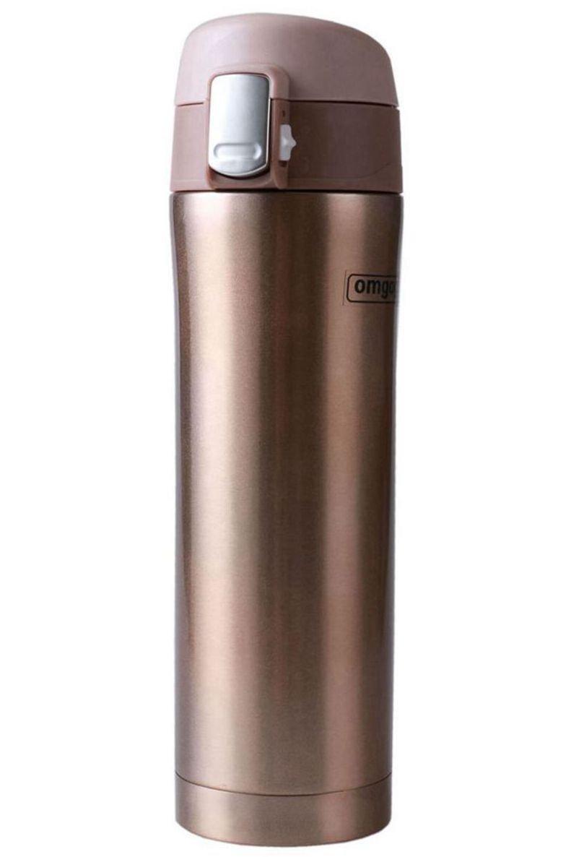 Omgogo Insulated Travel Mug & Coffee Mugs Stainless Steel Lid Lock Prevents Leaks