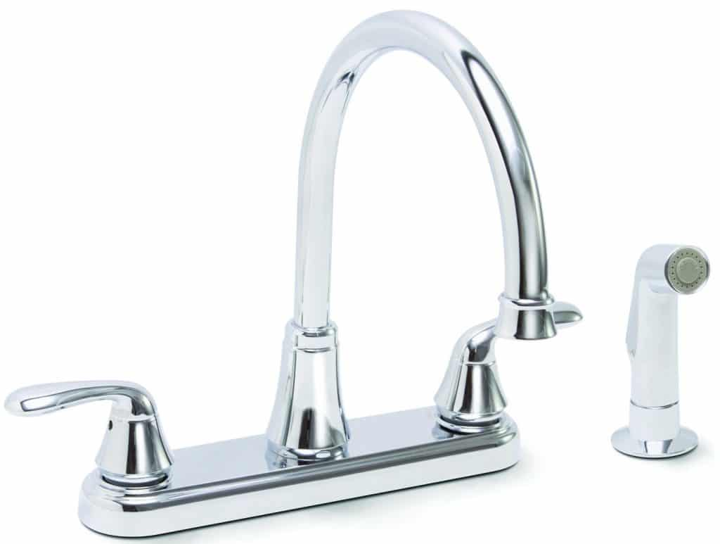 Premier Faucet 126967 Waterfront Lead Free Two Handle Kitchen Faucet With  Spray