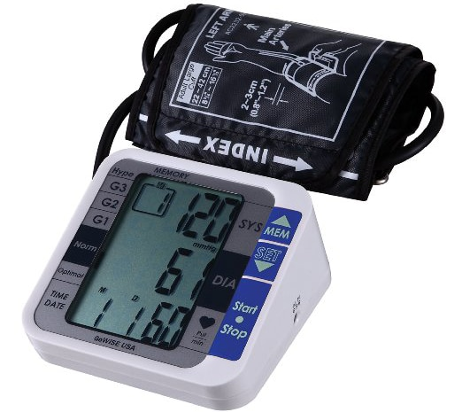 GoWISE USA Digital Upper Arm Blood Pressure Monitor