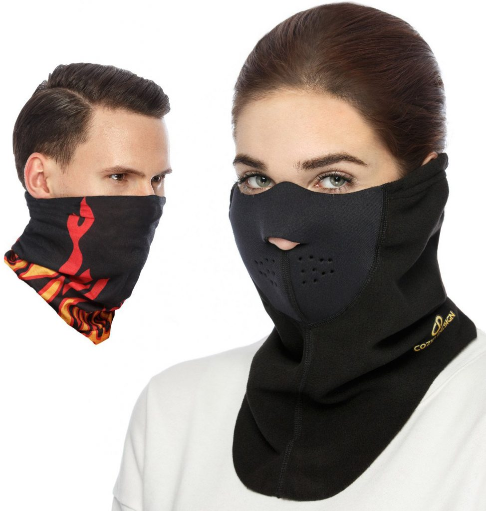 Cozia Design Premium Ski Mask + Magic Scarf/ Winter Face Mask - Best Winter Bundle