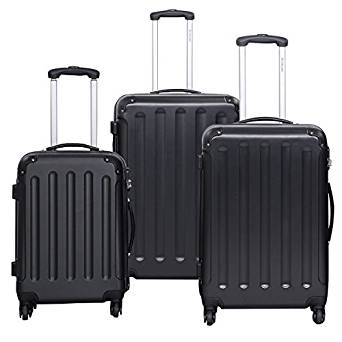 Goplus® Globalway 3 Pcs Luggage Travel Set Bag ABS+PC Trolley Suitcase