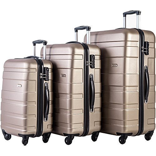Merax Afuture 3 Piece Luggage Set Lightweight Spinner Suitcase