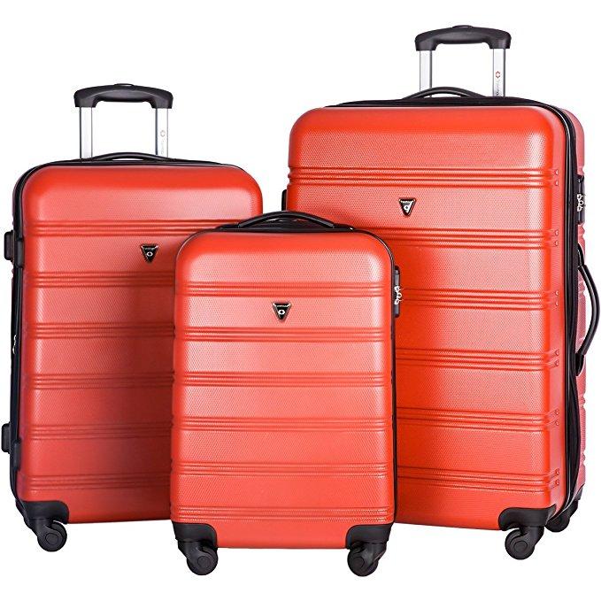 Merax Travelhouse Expandable Luggage Set 3 Piece Light Spinner Suitcase