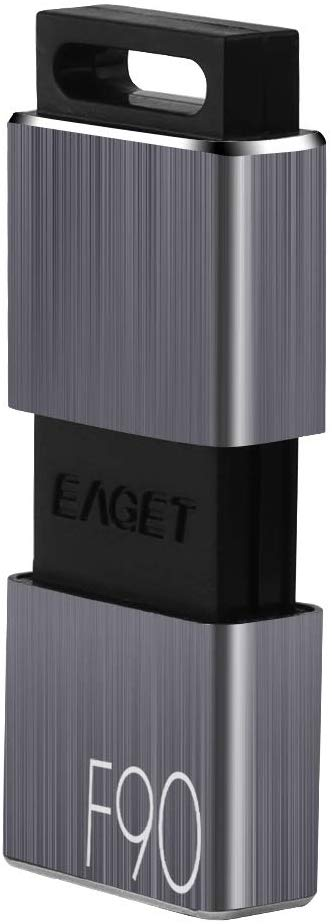 EAGET F90 USB 3.0 High Speed Capless USB Flash Drive,Water Resistant Pen Drive,Shock Resistant Thumb Drive,128GB