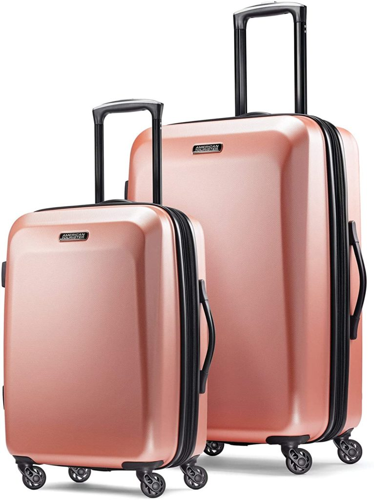 American Tourister Moonlight Hardside Expandable Luggage with Spinner Wheels,