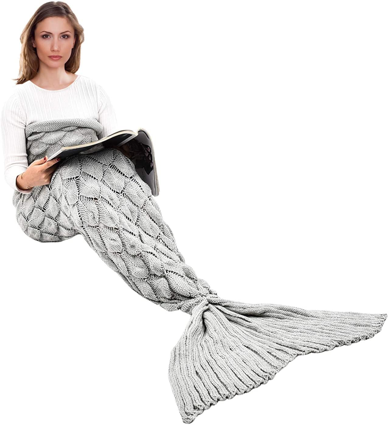 yashidali Wearable Mermaid Tail Blanket Crochet