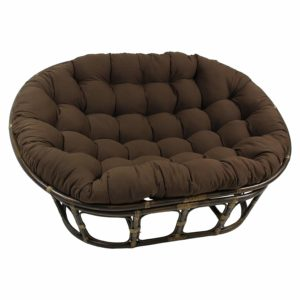Blazing Needles Solid Twill Double Papasan Cushion
