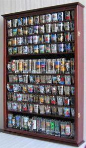 Display Case Mahogany Shot Glass Display Case