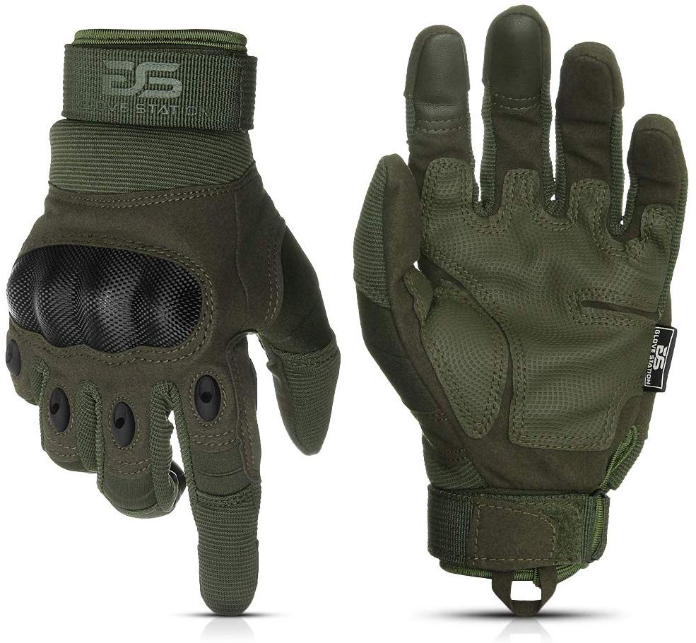 Glove Station The Combat Military Police Outdoor Sports Tactical Rubber Hard Knuckle Gloves for Men