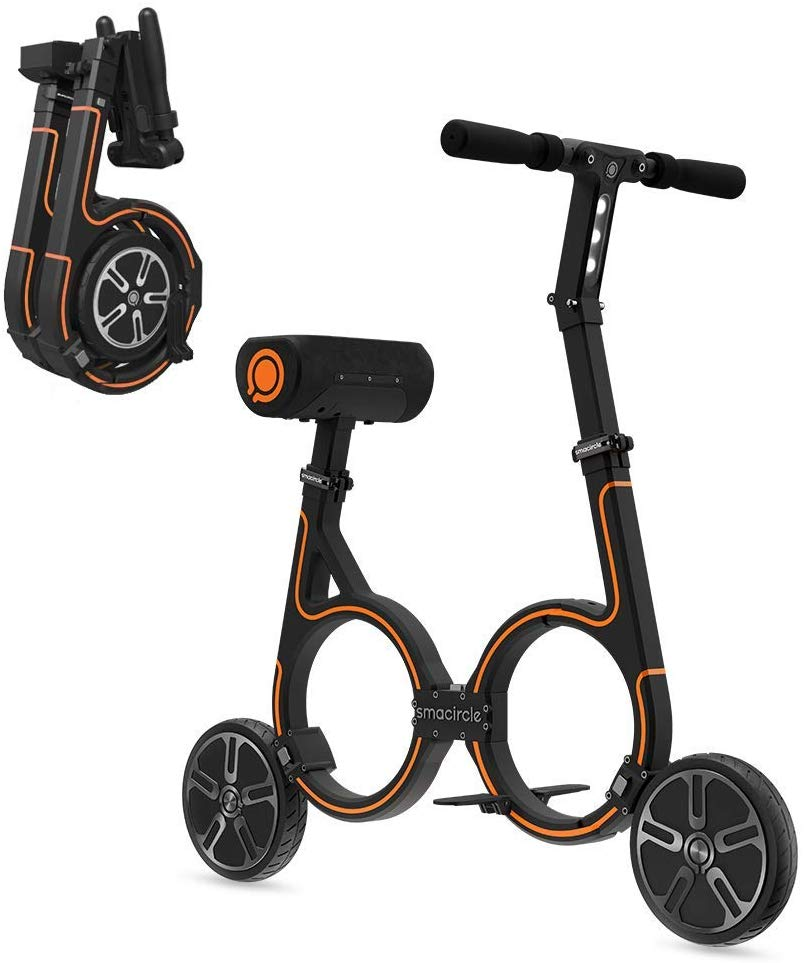 Semicircle E-Bike, Folding Electric Bicycle with Lightweight Carbon Fiber Frame