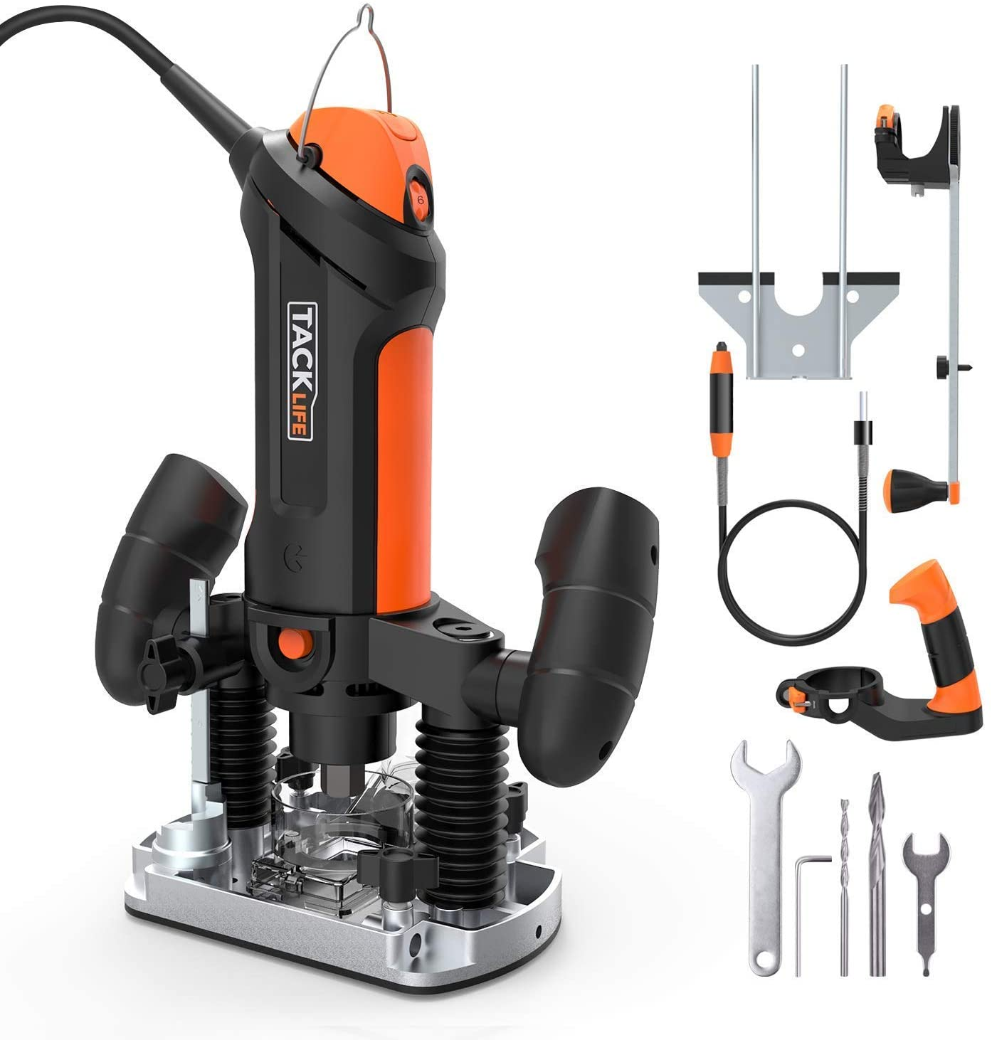 TACKLIFE Plunge Compact Router Kit