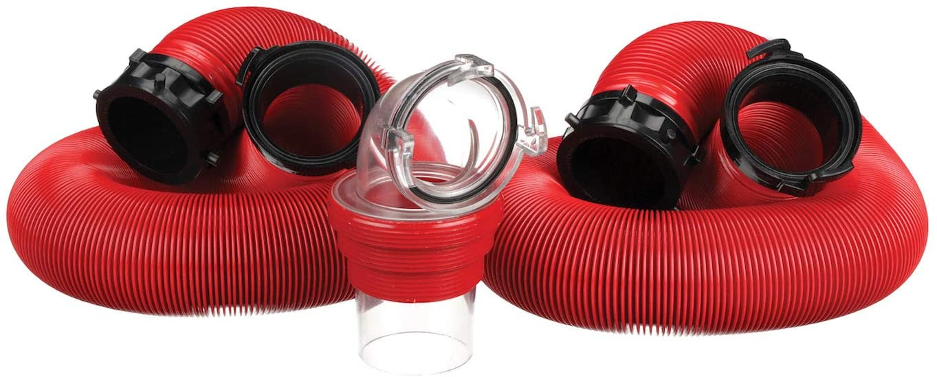Valterra Red 20 Ft Kit D04-0115 EZ Coupler Deluxe Bayonet Sewer Hose Kit-20'
