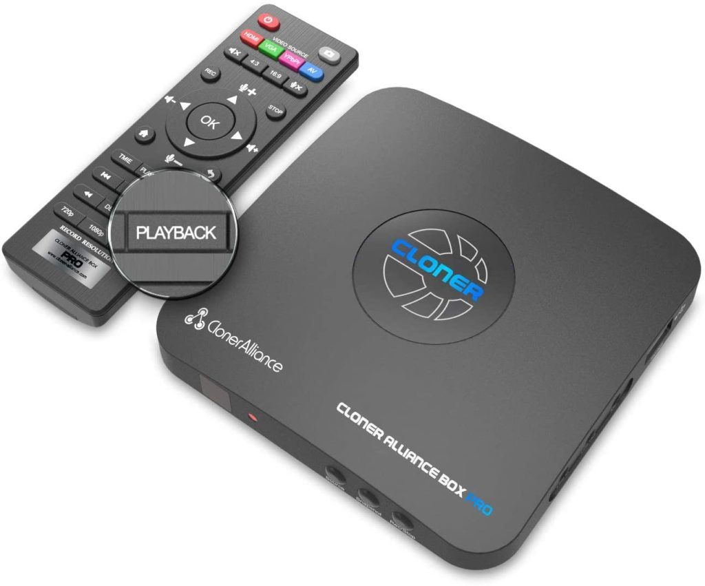 HDML-Cloner Box Pro, Capture 1080p HDMI Videos/Games and Play Back Instantly with The Remote Control, Schedule Recording