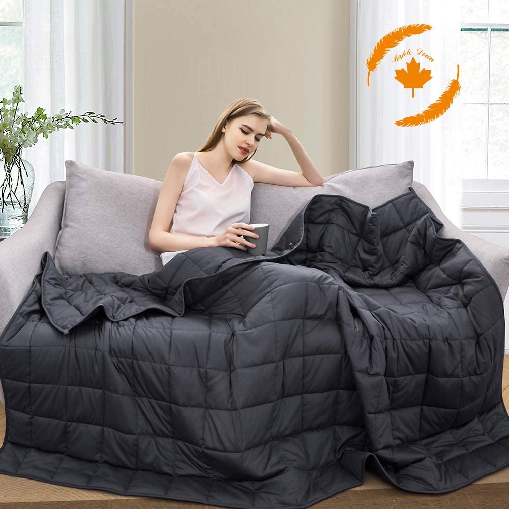 Maple Down Weighted Blanket for Kids