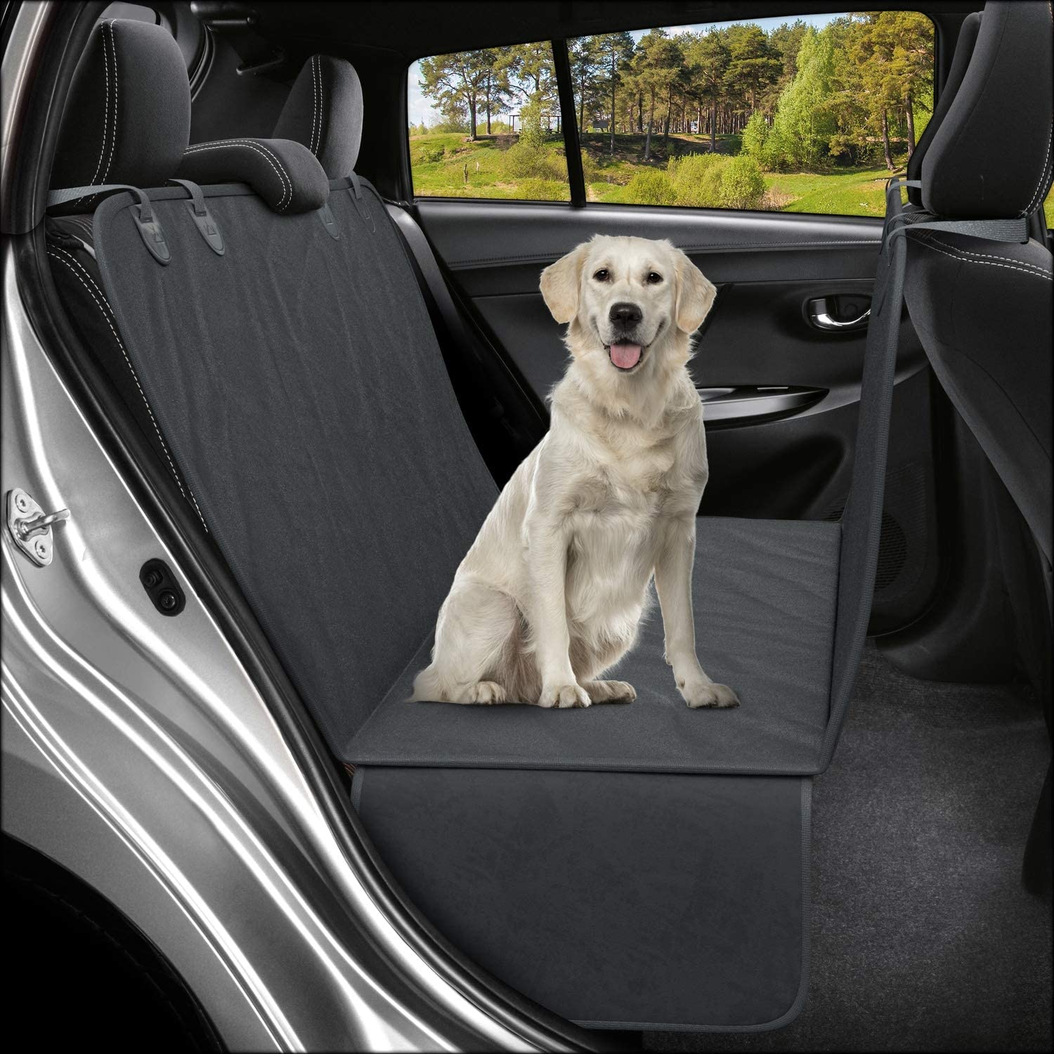 UKB4C Padded Quilted Rear Car Seat Cover Dog Protector fits Kia Rio