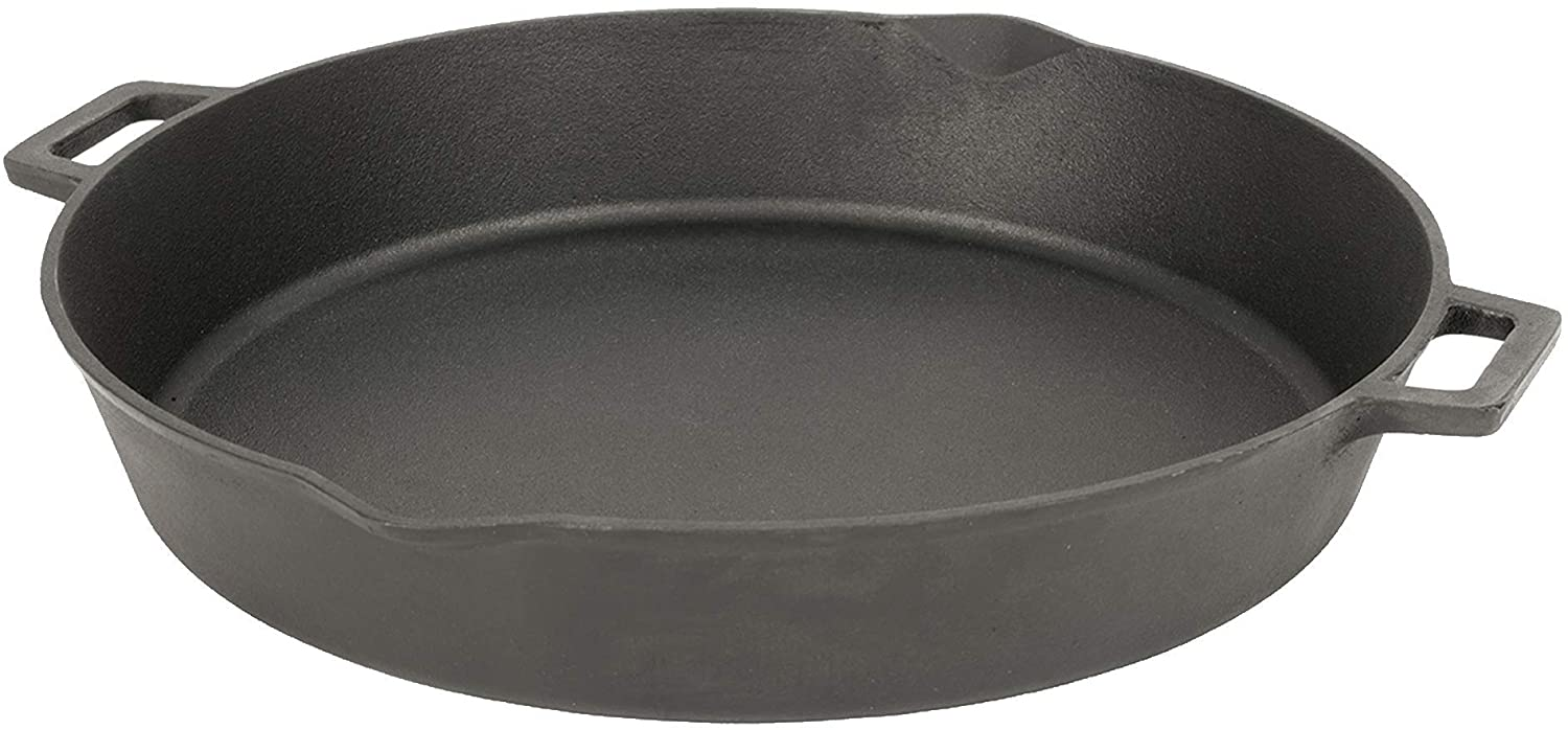 Bayou Classic 7439 Double Handled 7439-16-in Cast Iron Skillet