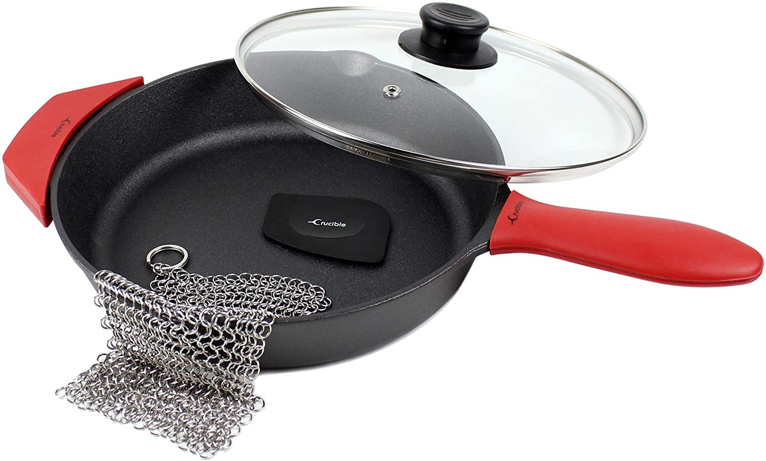 Crucible Cookware 10.25-Inch Cast Iron Skillet Set